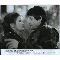 """1985 Press Photo Kate Mulgrew and Fred Ward in """"The Adventure Begins"""""""