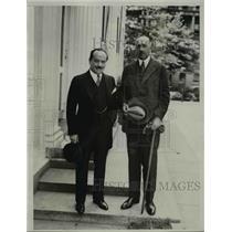 1931 Press Photo Chilean Ambassador Carlos Davila, Senator Rafael Lewis Barahona