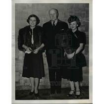 1939 Press Photo Madame Wilhelm de Morgenstierne, Rolf A. Christensen in NYC