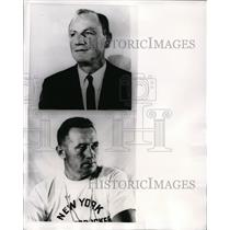 1967 Press Photo Red Holtzman replaces Dick McGuire as NY Knckerbockers coach