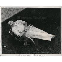 1939 Press Photo Boston Bees new first baseman Buddy Hassett - net01598