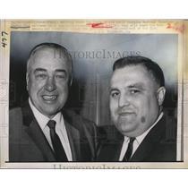 1968 Press Photo Retiring Canadiens coach Toe Blake with new coach Claude Ruel