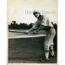 1931 Press Photo Rudy Rintala Stanford baseball center fielder at bat