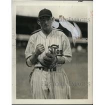 1929 Press Photo Al Bowtin in his baseball uniform - net02373