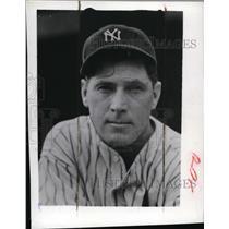 1942 Press Photo Buddy Hassett of the New York Yankees - net02389