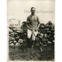 1927 Press Photo Major Eric Atkinson of British India Pub Team - net02676