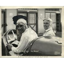 1931 Press Photo Race car driver Joe Russo with Paul Marshall in a car