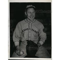 1933 Press Photo George Martens University of Pennsylvania baseball - net03648