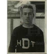 1925 Press Photo Dartmouth hockey team captain John Manser - net04980