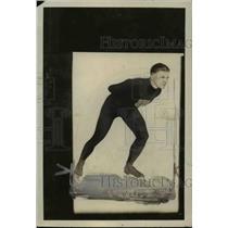 1926 Press Photo Ice skate racer Harry Keskey from Chicago - net04993