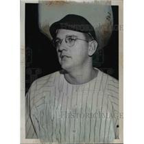 1950 Press Photo Jim Konstanty relief pitcher of Philadelphia Phillies