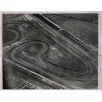 1936 Press Photo Aerial view of Roosevelt Raceway near Hemsptead in New York