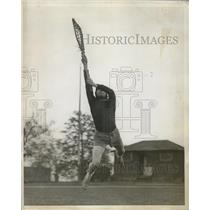 1929 Press Photo Charles Heintz captain of Stevens Tech Institute lacrosse team