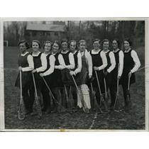 1934 Press Photo Great Britain lacrosse team at Bryn Mawr College to tour USA