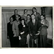 1936 Press Photo Distinguished aviators at the National Air Races, Los Angeles