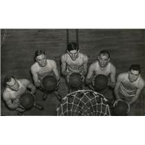 1939 Press Photo Westminster high school basketball team poses for photo