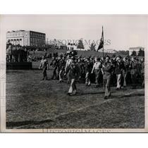 1939 Press Photo University of Maryland parade for Charley Keller of Yankees
