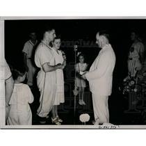 1938 Press Photo Oriole catcher Carroll Lowman weds Marie Wingler in TX