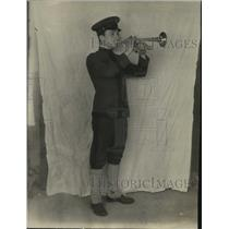 1922 Press Photo Paul DiBoug Playing an Instrument - ney20952
