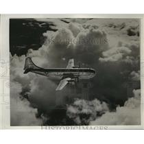 1945 Press Photo Boeing C-97 Airplane in Flight - ney21991