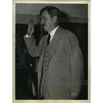 1938 Press Photo Communist Leader Earl Browder at McNaboe Committee Hearing
