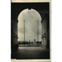 1922 Press Photo U.S. Captiol from Union Station Arch, Washington D.C.