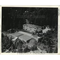 1940 Press Photo Aerial view of Sonja Henie's home in Norway - mja29304