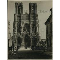 1920 Press Photo Rheims Cathedral, France - ney22462