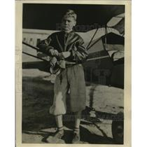 1936 Press Photo 11-Year-Old Pilot William L. (Billy) Lee of Savannah, Georgia