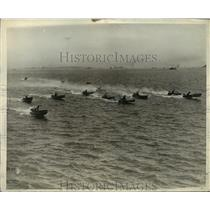 1930 Press Photo Outboard Motor B Class Boats in Gold Cup Association Regatta