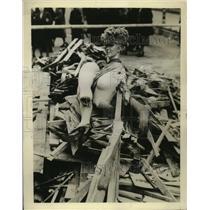 1941 Press Photo German Air Raid Parody of French Actress Mistinguet - ney20327