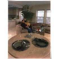 1984 Press Photo Brad Norman with Lisa Strehlow relax in  Knickerbocker Hotel