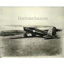 1930 Press Photo Fleetster Transport Plane of War Secretary F. Trubee Davison