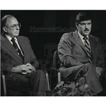 1984 Press Photo Milwaukee police chief candidates Robert Ziarnik & James Koleas