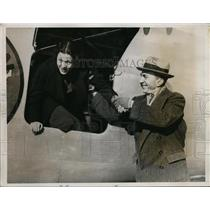 1935 Press Photo Eddie Rickenbacker in record hop from New Orleans to Newark