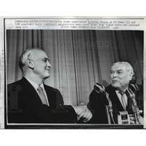 1962 Press Photo Steel Negotiators Congratulate After They Signed New Contract