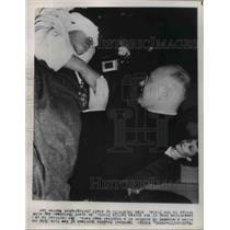 1921 Press Photo Cardinal Spellman Consoles a Wounded UN Soldier At Hospital