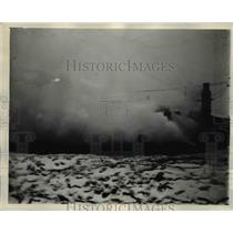 1931 Press Photo Rioting and Fire Sweeps Illinois State Prison At Statesville