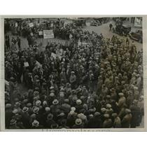 1932 Press Photo Hunger Marched at Chester Square Pa - nef12983