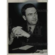 1940 Press Photo Communist Elmer L. Johnson Testifying for Dies Committee