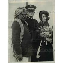 1925 Press Photo Lt Col Yesu Dasen of India Army arrives in San Francisco