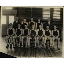 1927 Press Photo Bucknell U basketball Frable. Klosterman, Woodring - net19520