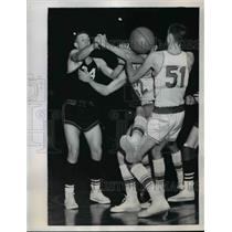 1958 Press Photo Ben Davis school Ed Boyer vs North Central HS Jim South