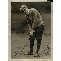 1920 Press Photo Edwin M Wild at golf before struck by a propeller accident