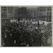 1934 Press Photo NYC communists at a rally - net20687