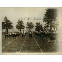 1928 Press Photo St Mary's College girls at exercises at Newburgh NY