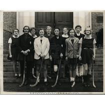 1931 Press Photo Fairchester field hockey teamMrs WA Burke Jr, Pam Crawford