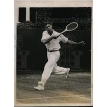 1921 Press Photo Lionel Ogden Competing For Intercollegiate Tennis Title