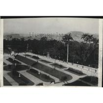 1928 Press Photo Rose Garden of Old Palace of Don Pedro II of Rio de Janeiro