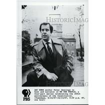1987 Press Photo Peter Jennings host and narrator of We the People on PBS.